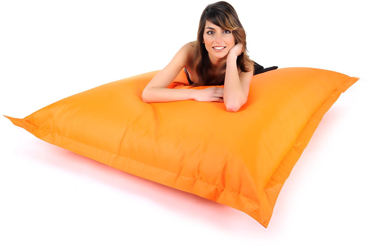 pouf geant pas cher miliboo pouf gant design coton orange. Black Bedroom Furniture Sets. Home Design Ideas