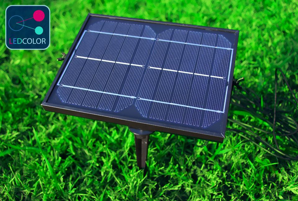 Chargeur solaire pour mobilier lumineux ledcolor for Led solaire terrasse