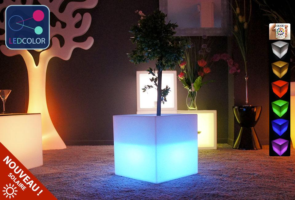 Cube Lumineux Multifonctions Solaire Multicolore  Prix Usine