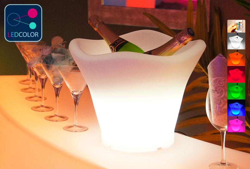 Seau champagne lumineux led multicolore prix usine - Seaux a champagne lumineux ...