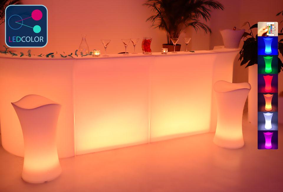 tabouret bar lumineux led multicolore. Black Bedroom Furniture Sets. Home Design Ideas