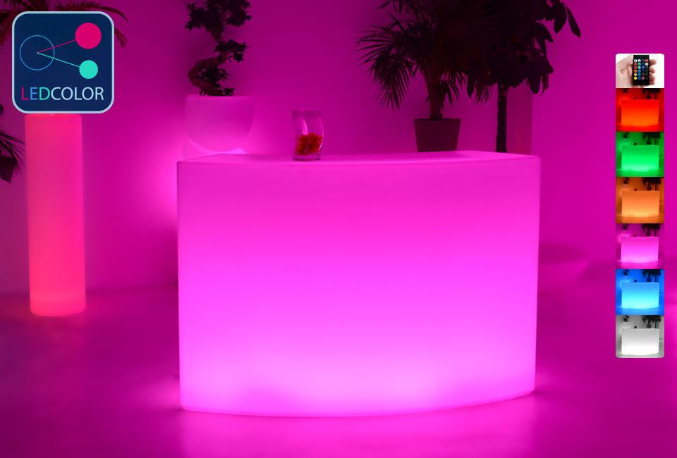 Bar lumineux led multicolore round direct usine 60 for Bar lumineux