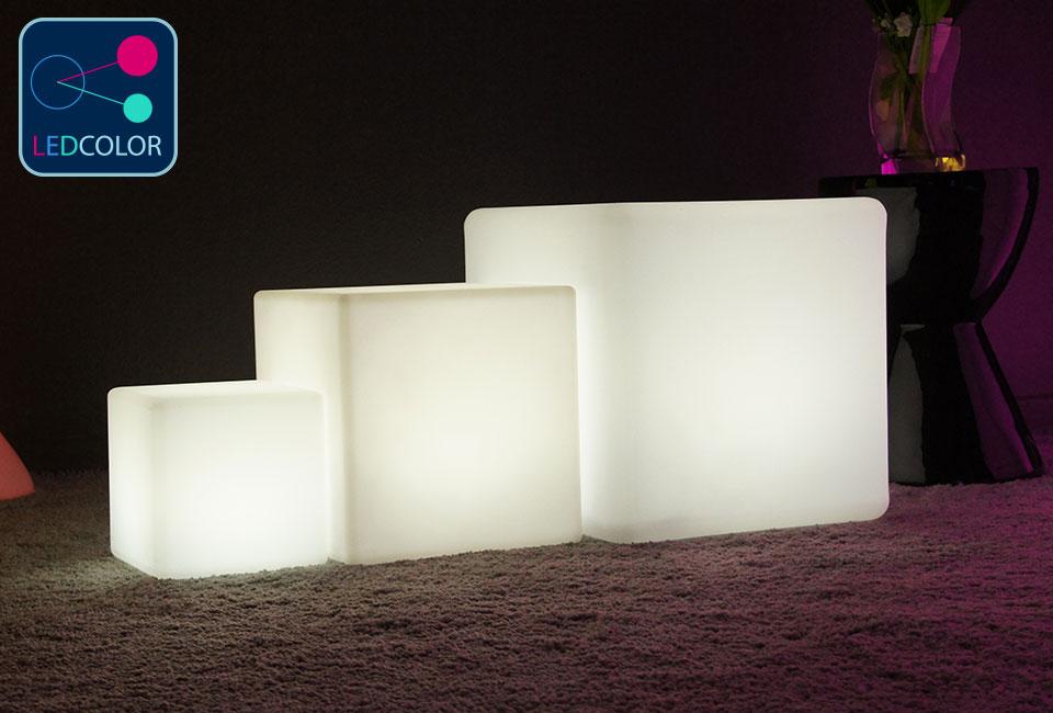 ... Cube Lumineux à LED Multicolore - 30 Cm ...