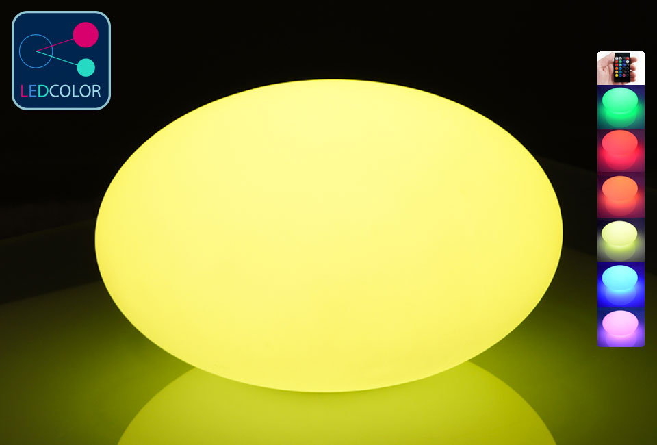 Galet lumineux xl led multicolore 70 prix usine for Galet lumineux exterieur