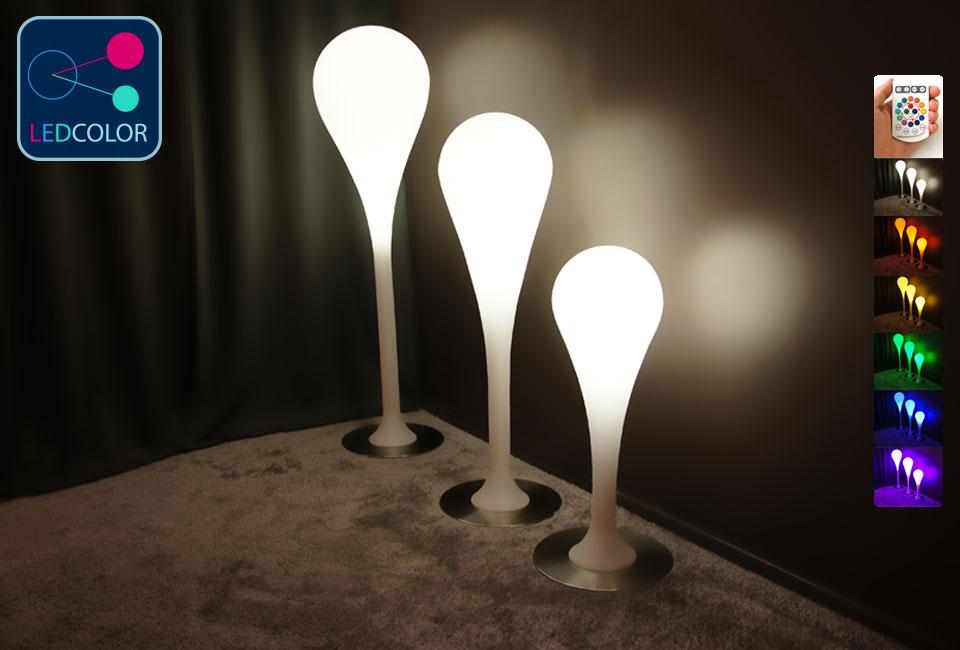Lampe poser lollipop led sans fil multicolore 60 - Lampe led multicolore ...
