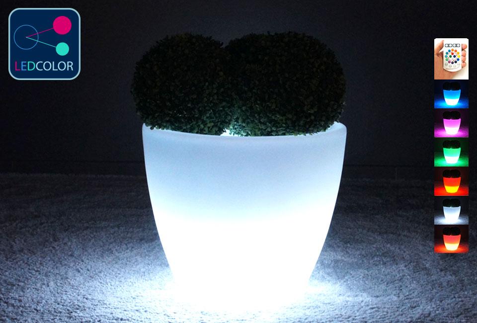 pot de fleurs lumineux solaire led multicolore sans fil spark 50. Black Bedroom Furniture Sets. Home Design Ideas