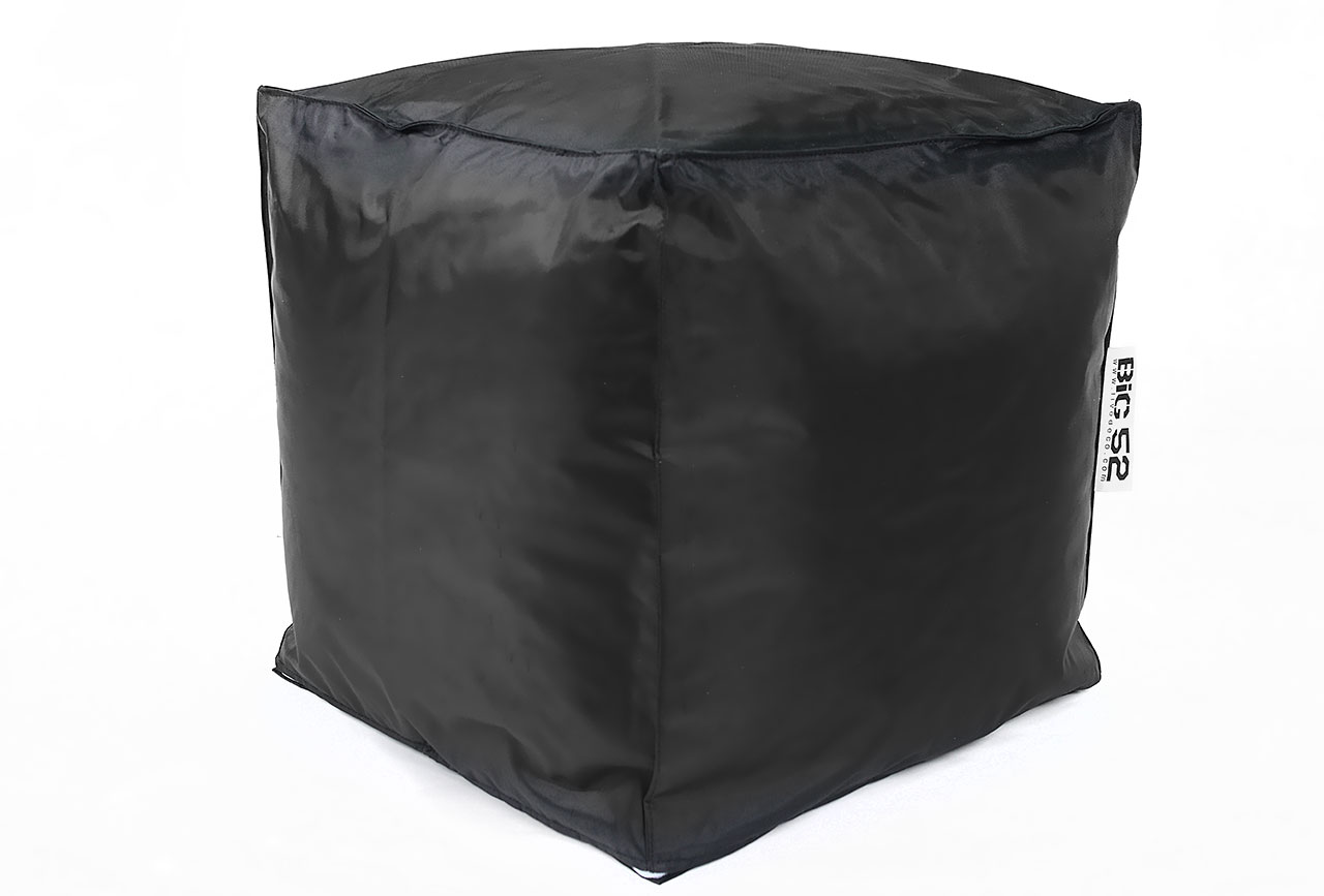 pouf cube noir 75 pouf carr livraison express. Black Bedroom Furniture Sets. Home Design Ideas