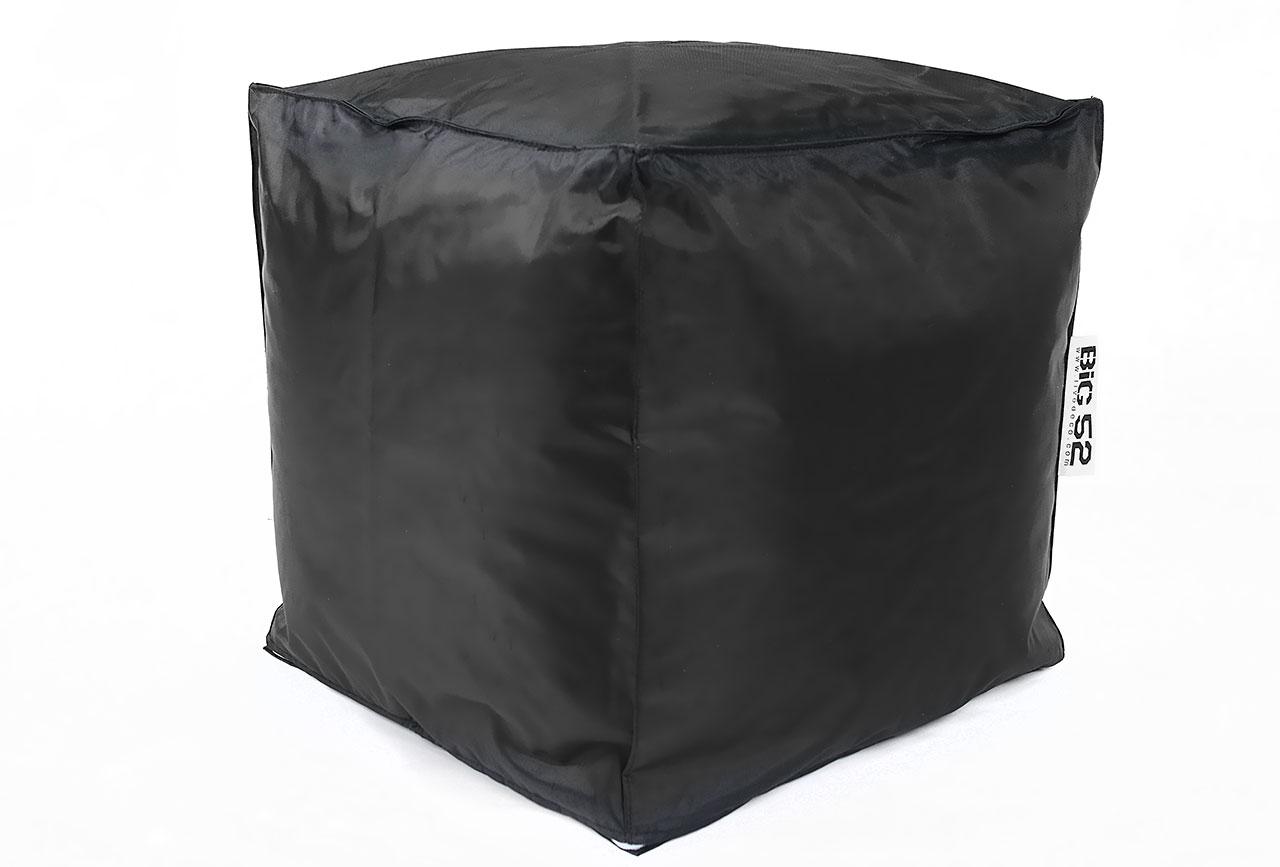 Pouf cube big52 noir for Pouf carre noir ikea