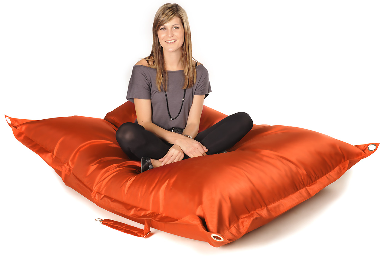 Pouf g ant ext rieur outdoor raw orange 75 pouf xxl for Pouf geant exterieur