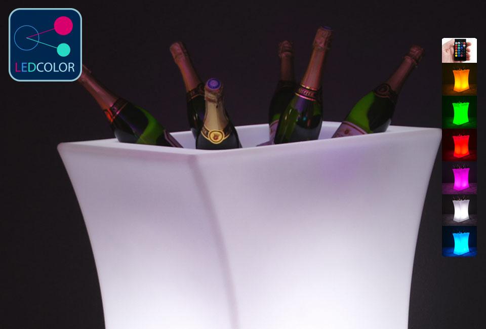 Seau champagne lumineux led multicolore hink xxl - Seau champagne lumineux ...