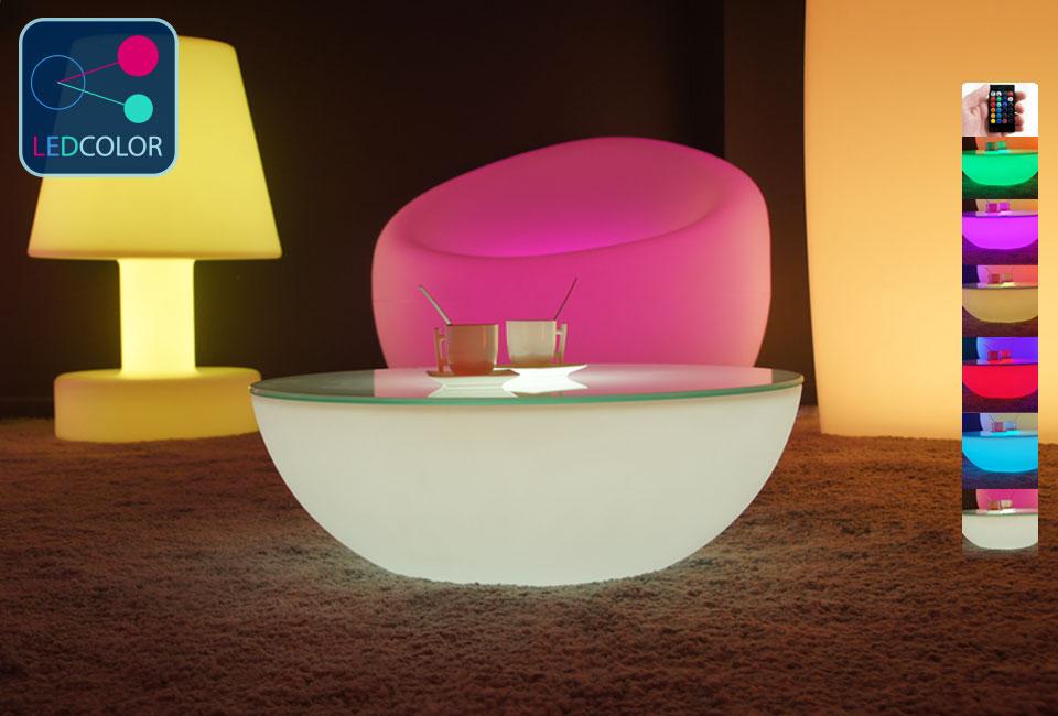 Beautiful Table Basse Lumineuse Led Moonlight 7 Table Basse
