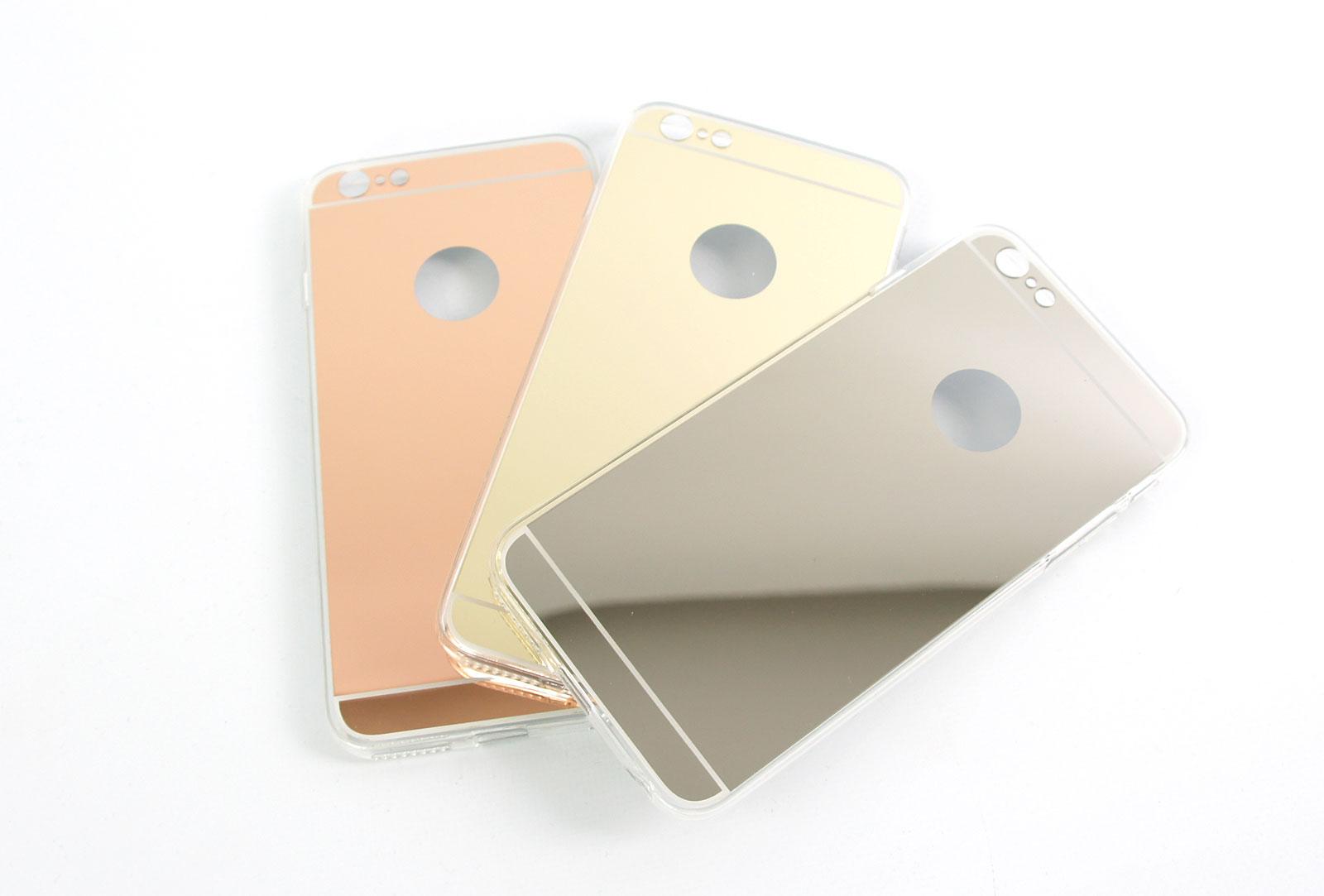 Coque slim miroir or pour iphone 6 s plus et iphone 6 plus for Application miroir pour iphone