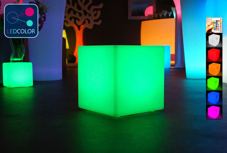 ... Cube Lumineux Led Multicolore 30 Cm For Cube Lumineux Exterieur Sans Fil  ...