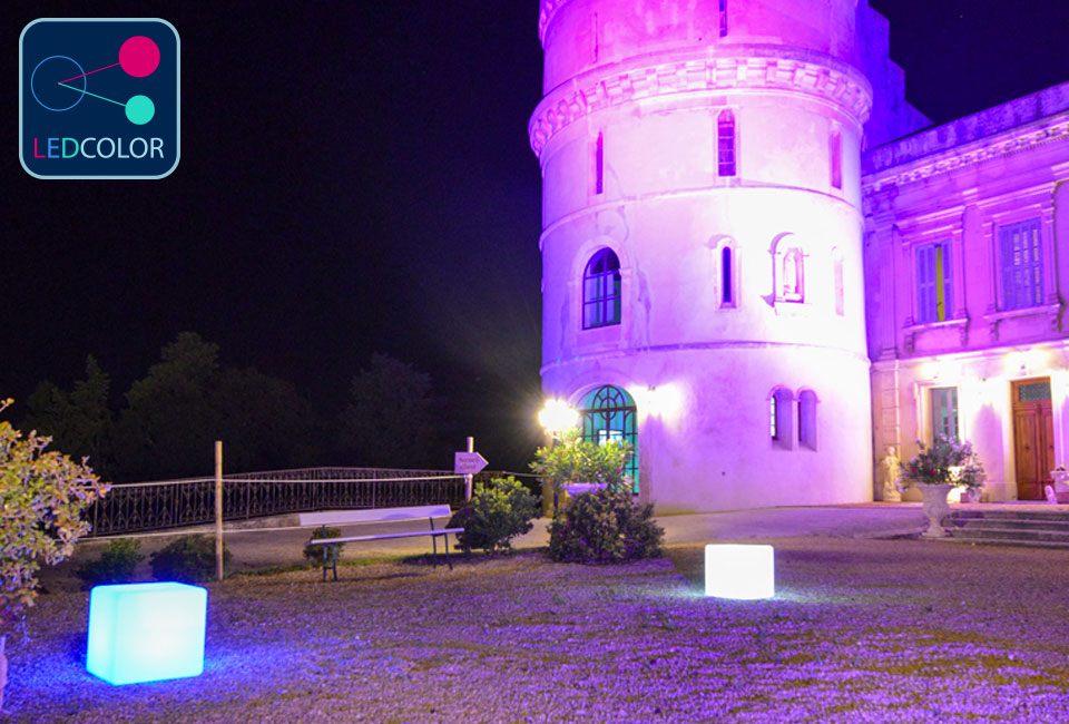Cube Lumineux Solaire Multicolore Sans Fil  Cube Led  Cm
