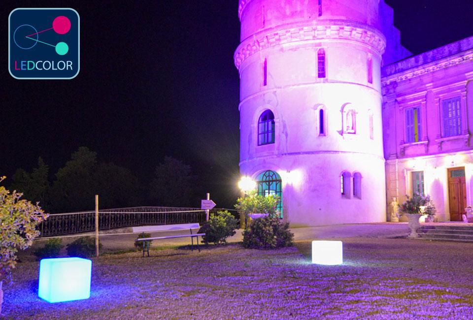 ... Cube Lumineux à LED Multicolore - 40 Cm ...