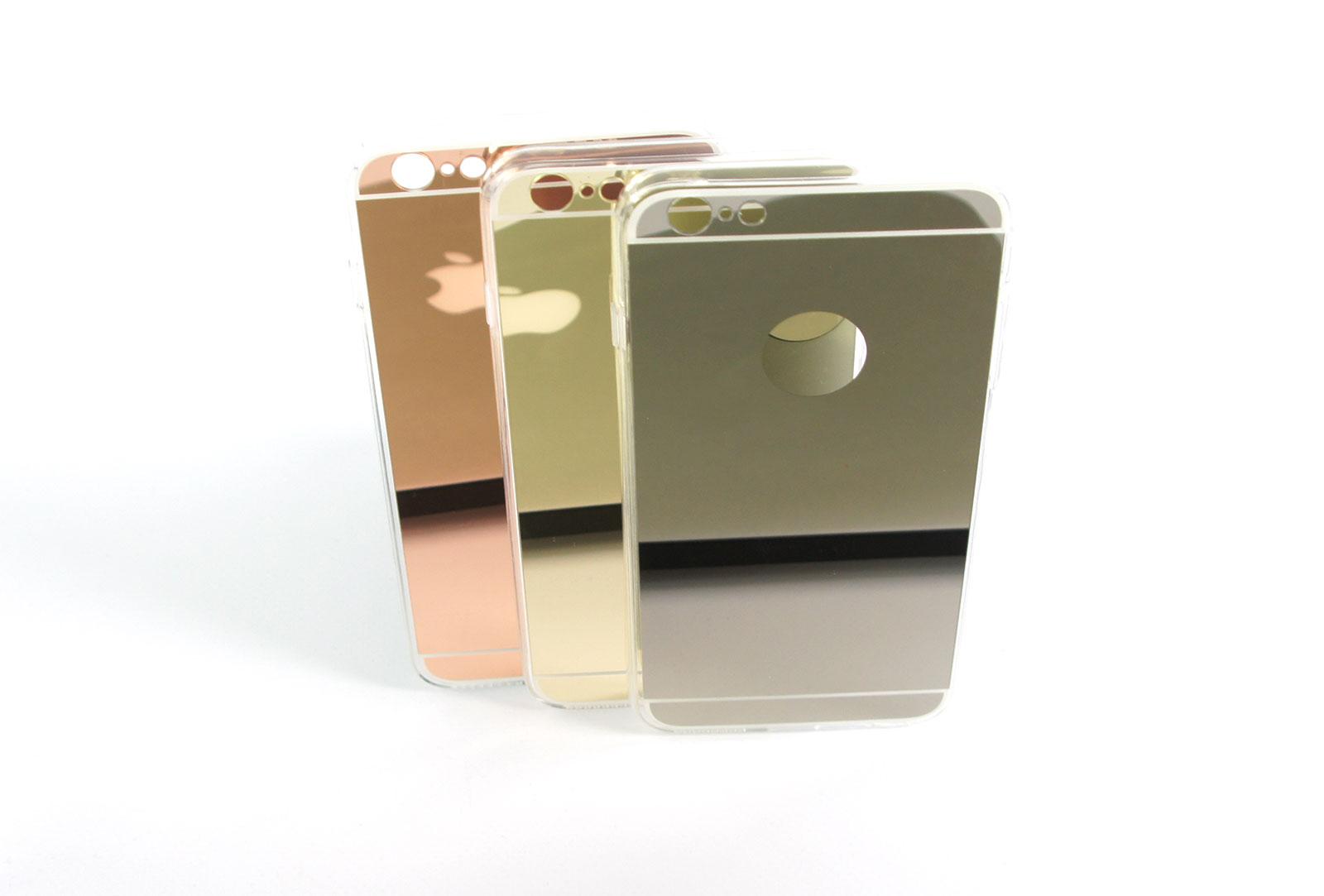 Coque slim miroir gris pour iphone 5 et iphone se for Application miroir pour iphone