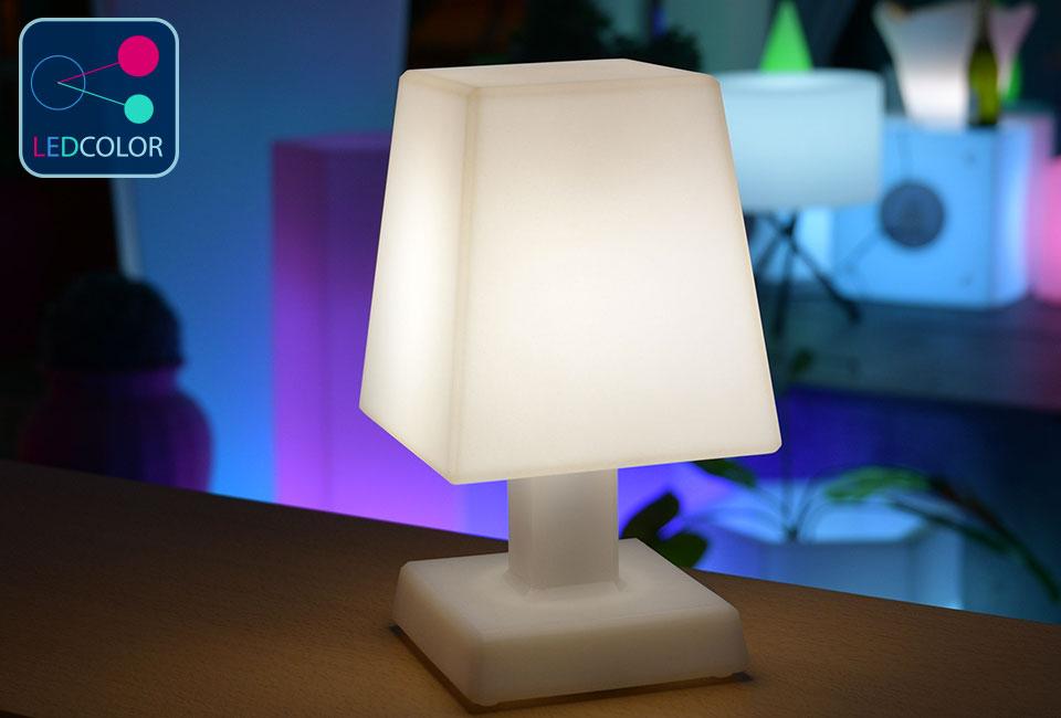 lampe poser carr aba s led sans fil multicolore 60. Black Bedroom Furniture Sets. Home Design Ideas