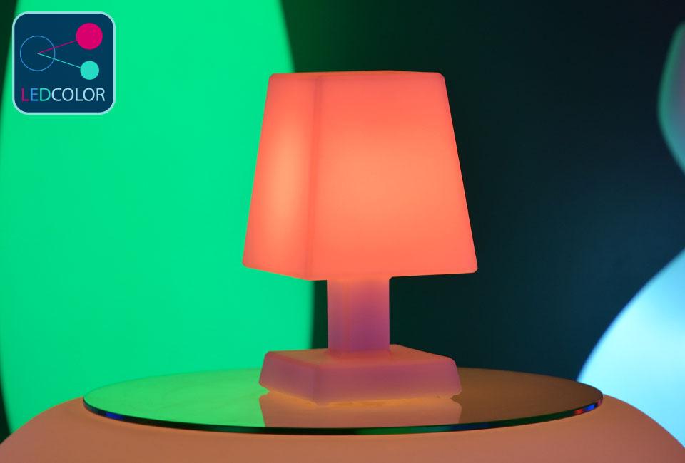 lampe poser led multicolore aba s. Black Bedroom Furniture Sets. Home Design Ideas