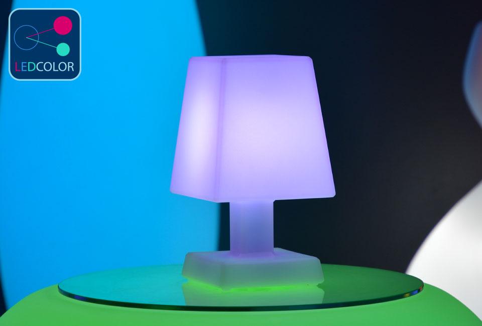 lampe poser sans fil led multicolore aba s square. Black Bedroom Furniture Sets. Home Design Ideas