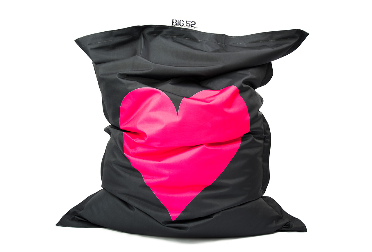pouf g ant gros coeur rose prix usine livraison express. Black Bedroom Furniture Sets. Home Design Ideas