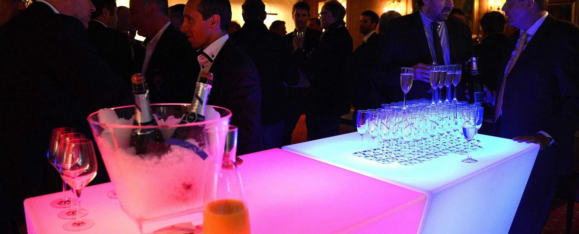 Service professionnel - Seaux a champagne lumineux ...