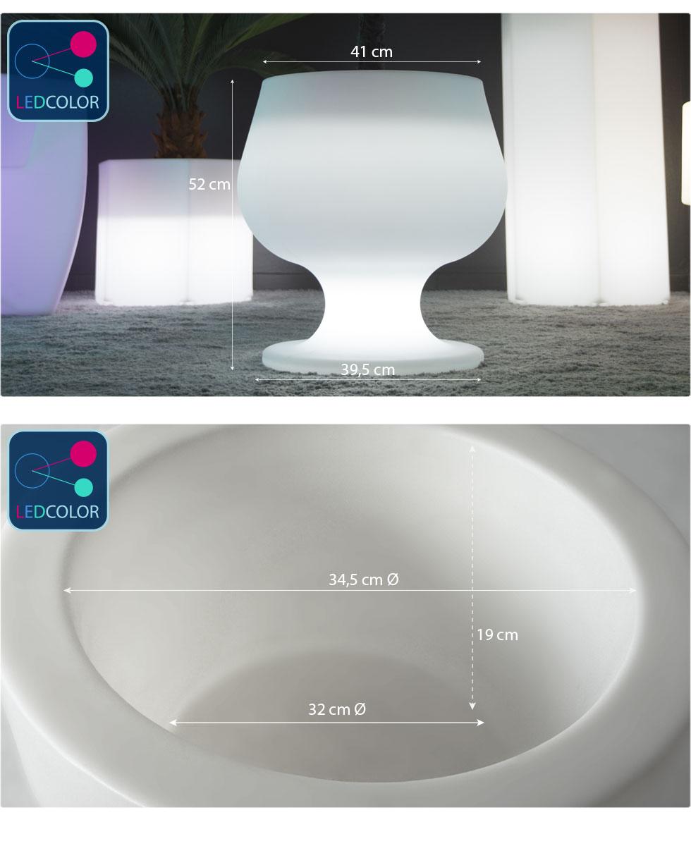 cotes et dimension pot lumineux cup images
