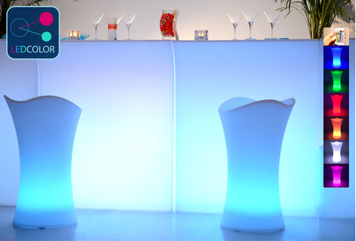 Tabouret Bar Lumineux à LED Multicolore