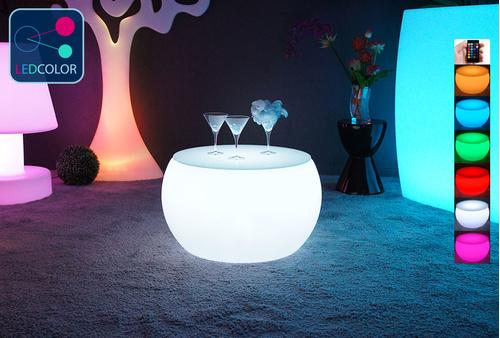 Table Basse Lumineuse à LED Multicolore - ROUND