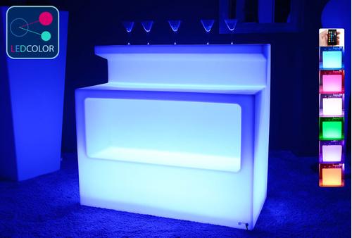 BAR Lumineux à LED Multicolore - KRUG SQUARE