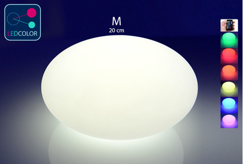 Galet Lumineux à LED Multicolore M