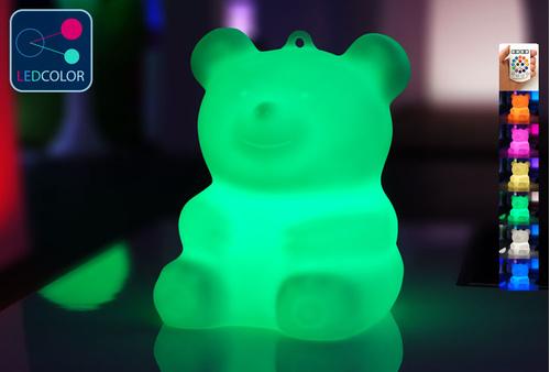 Ourson Lumineux à LED Multicolore - BÄRA