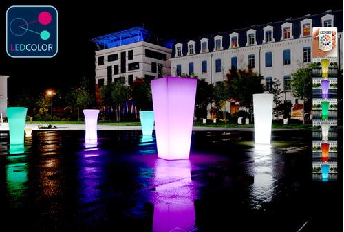 Pot Lumineux à LED Multicolore - TITAN SQUARE