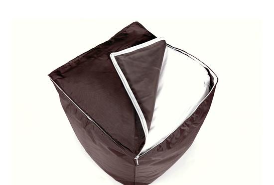pouf cube chocolat 75 pouf carr livraison express. Black Bedroom Furniture Sets. Home Design Ideas