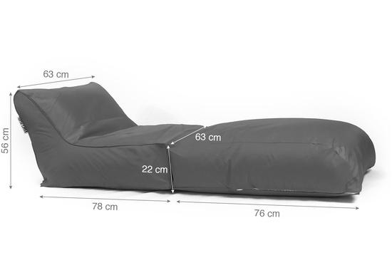 Pouf transat BiG52 graphite