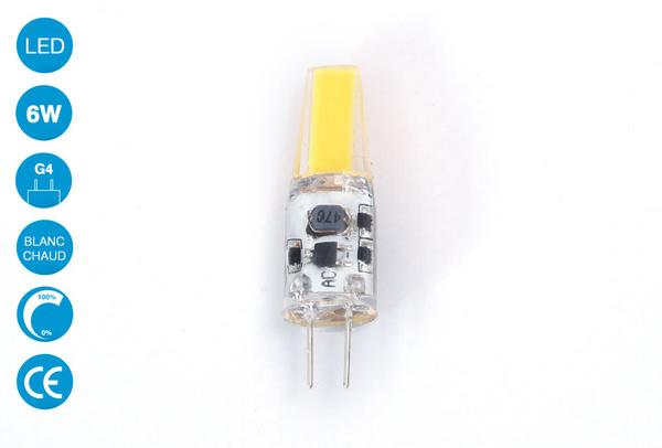 Ampoule LED G4 6 Watts Blanc Chaud