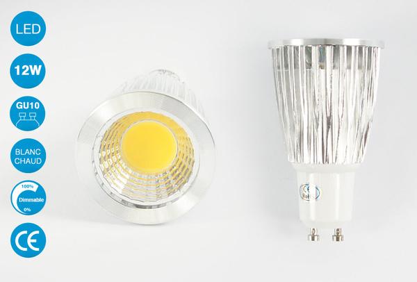 Ampoule LED GU10 12 Watts Blanc Chaud