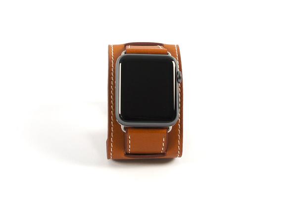 Bracelet en cuir marron Apple Watch 42mm