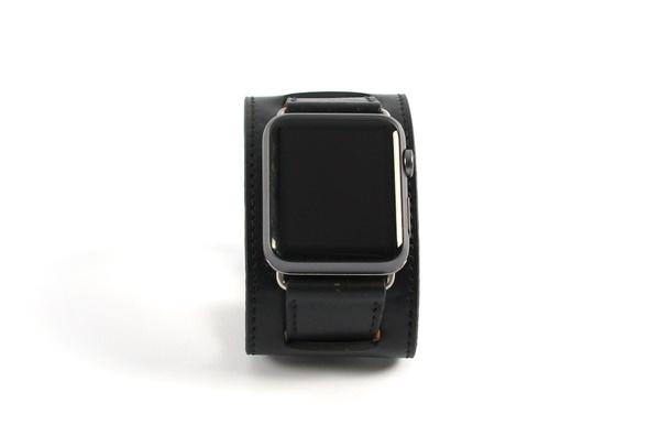 Bracelet en cuir noir Apple Watch 42mm