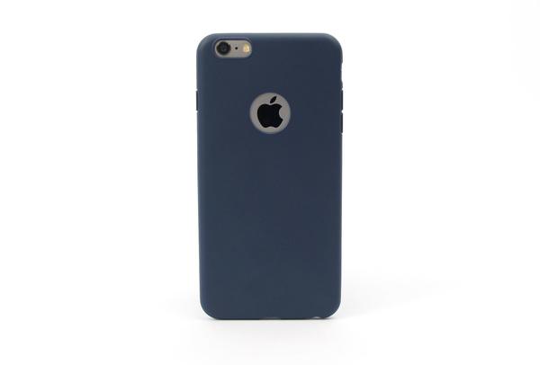 Coque silicone souple bleu marine pour iPhone 6 S et iPhone 6