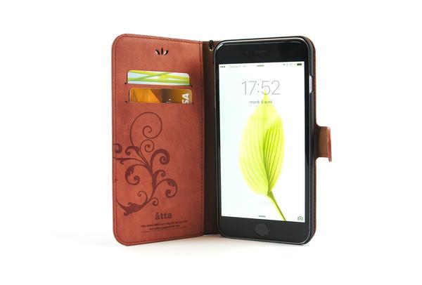 Étui portefeuille en simili cuir rose pour iPhone SE, iPhone 5 et iPhone 5S