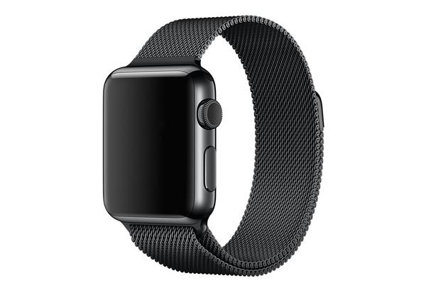 Bracelet métal magnétique noir Apple Watch 38 mm - S/M et M/L