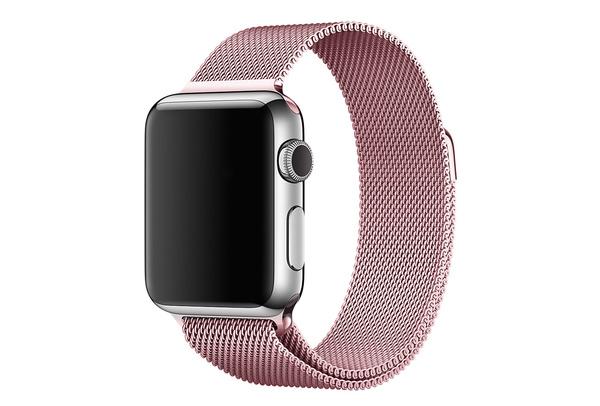 Bracelet métal magnétique rose Apple Watch 42 mm - S/M et M/L