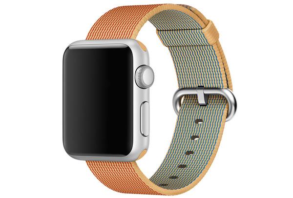 Bracelet Nylon or/rouge Apple Watch 42 mm - S/M et M/L