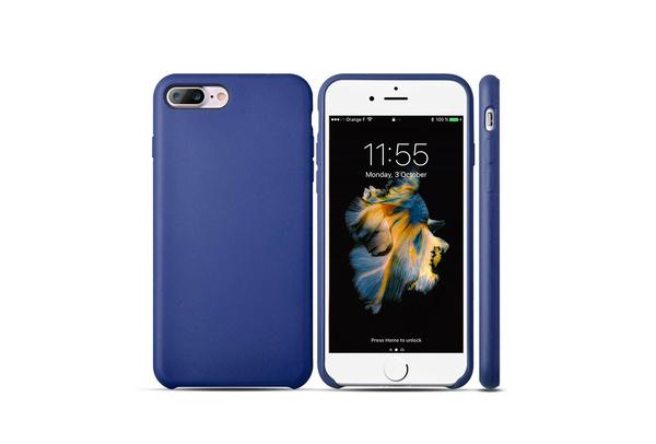 Coque silicone souple bleu pour iPhone 7 Plus