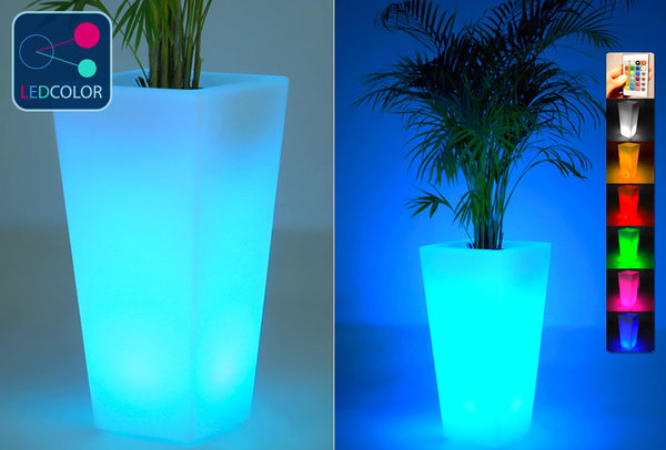 Vase Lumineux à LED Multicolore - SQUARE