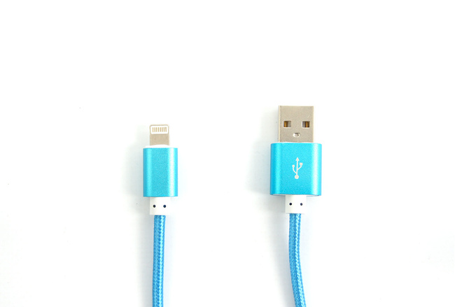 Cable couleur Bleu lightning pour iPhone et iPad