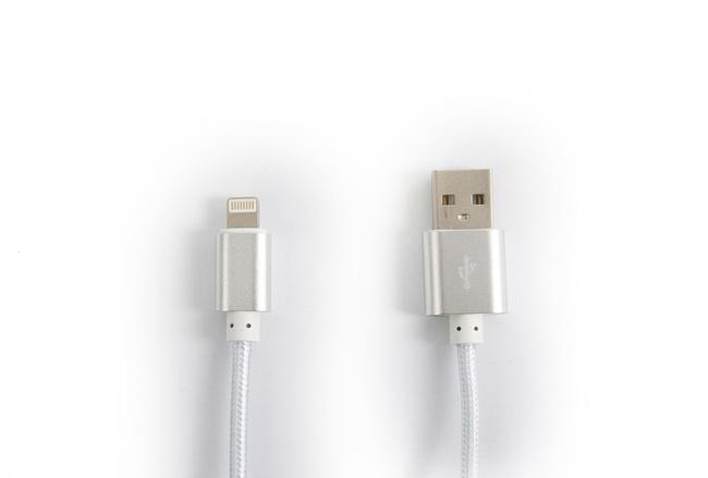 Cable couleur Gris lightning pour iPhone et iPad