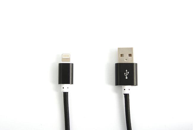 Cable couleur Noir lightning pour iPhone et iPad