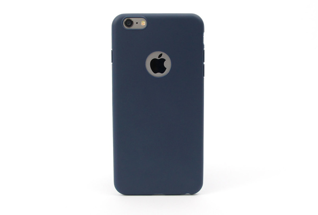 Coque silicone souple bleu marine pour iPhone 6 S Plus et iPhone 6 Plus