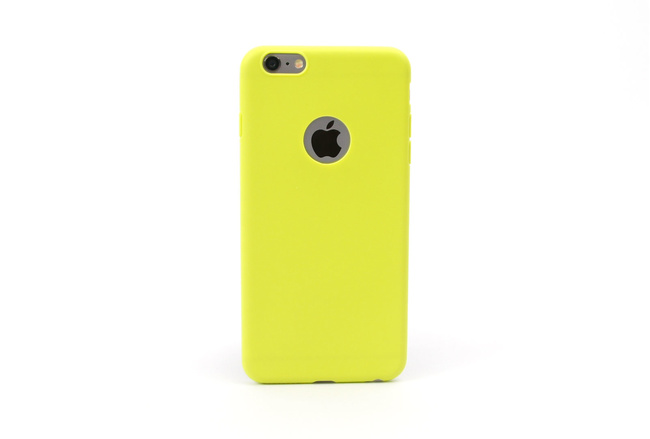 Coque silicone souple jaune pour iPhone 6 S et iPhone 6